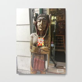Chief woodenhead Metal Print