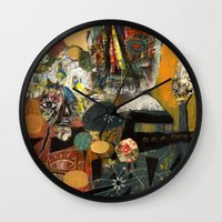 gumball Wall Clocks featuring Gumball Golden Hour by Jesse Reno