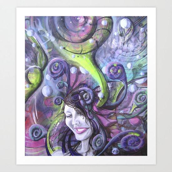 Krystal Snow Art Print