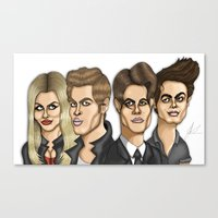 the vampire diaries Canvas Prints featuring The Originals The Vampire Diaries Caricature Artwork by GinjaNinja1801