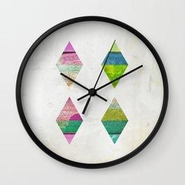 FDFDF (Four Diamonds For Daring Fools) Wall Clock