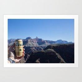 Canyon Cerveza Art Print