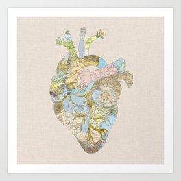 A Traveler's Heart (N.T) Art Print