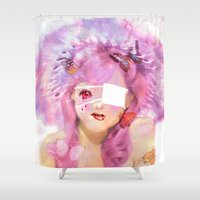 lolita Shower Curtains featuring Sue (Lolita) by Ilaria Novelli