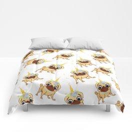 Magic pug dog life Comforters