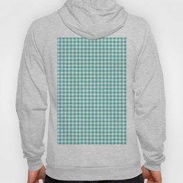 Modern green white checker picnic stripes pattern Hoody