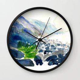 Charco Azul Gran Canary Coast Wall Clock