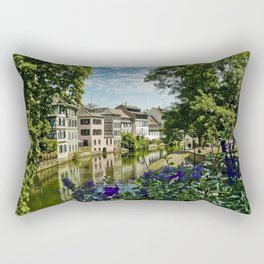 At the Canal de la Sarre Rectangular Pillow