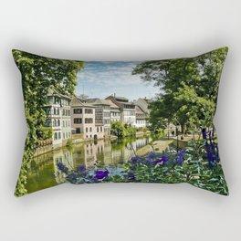 At the Canal de la Sarre Rectangular Pillow