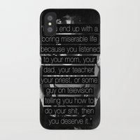 """zappa iPhone & iPod Cases featuring Frank Zappa - """"You Deserve It."""" by Justine Linette Neveu"""