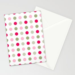 Orange, Red and Blue Dots Colorful  Pattern Cutest Stationery Cards