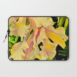 Two Cattleya Orchids Aloha Laptop Sleeve