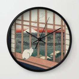 Asakusa Rice Fields, Hiroshige Wall Clock