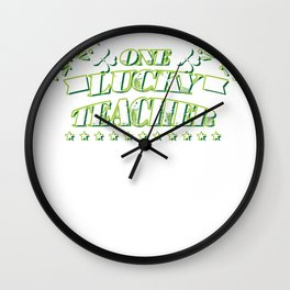 One Lucky Teacher St. Patricks Day Gift Wall Clock