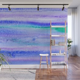 Abstract Blue Landscape Wall Mural