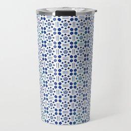 indigo clover tiles Travel Mug