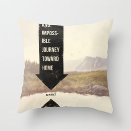 Endless Journey Home Throw Pillow