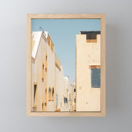 Cozy streets of Morocco, Pastel Color Market, Photo Art Print Framed Mini Art Print