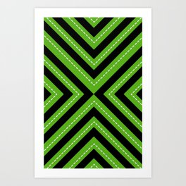 series 1 Green Art Print