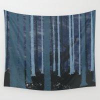 mandela Wall Tapestries featuring Watching you part II by Fernanda Schallen
