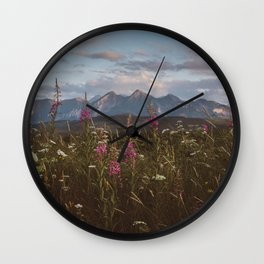 Mountain vibes - Landscape and Nature Photography Wall Clock