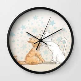 When We Kiss, I See Stars Wall Clock