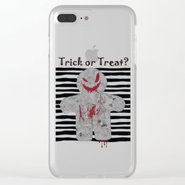 Halloween Jack - Trick or Treat Clear iPhone Case