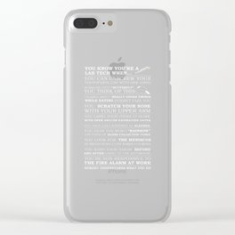 This inspirational t-shirt would be perfect for any occupational therapist to wear when they are not Clear iPhone Case