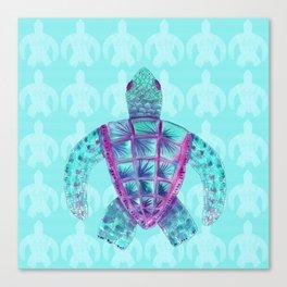 Tomas in Aqua Canvas Print