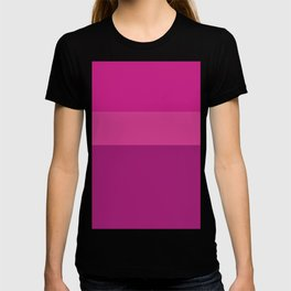 CERISE & PINK 3-TONE (Horizontal stripes) - Mix & Match T-shirt