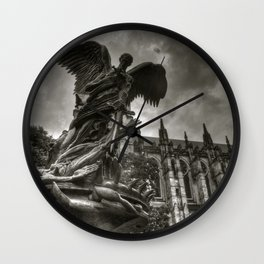 Angel with a sword Wall Clock
