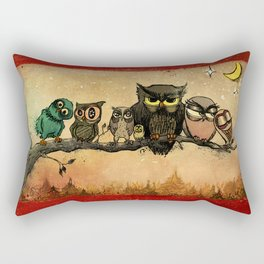 Midnight Owls Rectangular Pillow