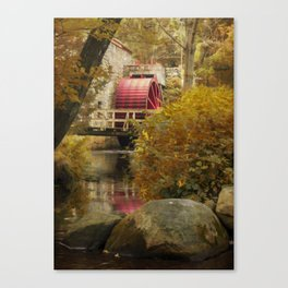 Wheel at the Grist Mill Canvas Print
