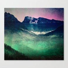 Mountains - Cascadia Night Canvas Print