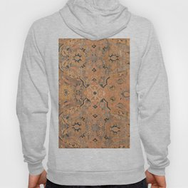 Persian Motif IV // 17th Century Ornate Rose Gold Silver Royal Blue Yellow Flowery Accent Rug Patter Hoody