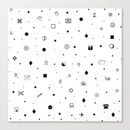 Wingdings Print Canvas Print
