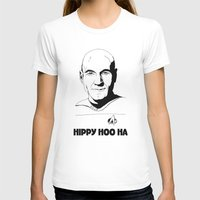 picard T-shirts featuring Jean-Luc Picard by Hippy Hoo Ha