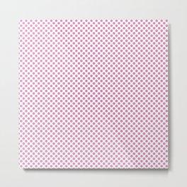 Fuchsia Pink Polka Dots Metal Print