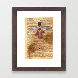 Sacred Heart Crow Framed Art Print
