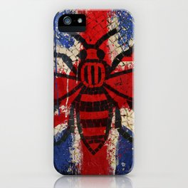 Union Jack Manchester worker Bee iPhone Case