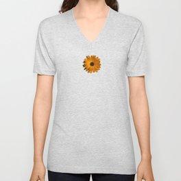 Orange power flower Unisex V-Neck