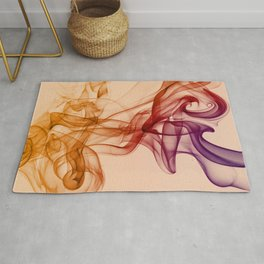 Smoke composition in pastel tones Rug