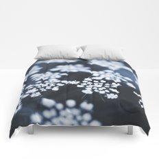 flower - blue lace Comforters