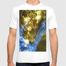 Explosion of colors MEDIUM Mens Fitted Tee White