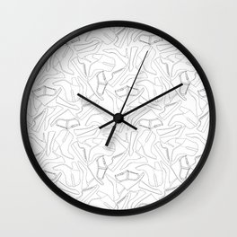Shoe Print - Black & White Wall Clock