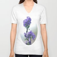 iris V-neck T-shirts featuring Iris by Bella Blue Photography