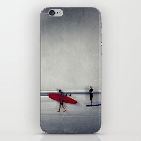red surf board iPhone & iPod Skin