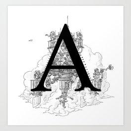Alphabetanauts - A Art Print