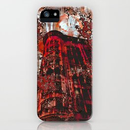 Red Broadway NYC series by Lika Ramati iPhone Case