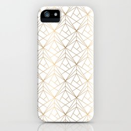 Gold pattern iPhone Case
